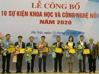 Ten notable scientific and technological events of Vietnam in 2020 announced