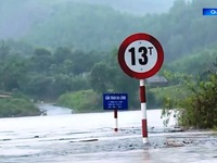 Mountainous routes in Quang Tri isolated due to heavy rain