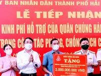 More support for Hai Phong in COVID-19 fight