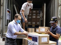 Over 852,000 doses of AstraZeneca vaccine arrive in Vietnam
