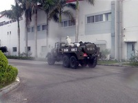 Quân khu 3 khử khuẩn các điểm có nguy cơ cao tại Cẩm Giàng, Hải Dương