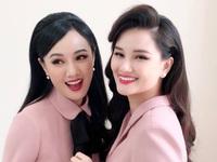 BTV Hoài Anh đẹp rạng ngời bên MC Huyền Châu
