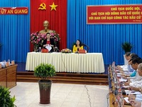 NA chairwoman inspects election preparations in An Giang Province