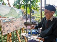 Art exhibition features lacquer painting