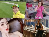 Dàn diễn viên Việt cuối tuần: Hồng Diễm diện nguyên cây hồng, Huyền Lizze khoe sắc vóc như mơ