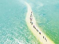 Unique undersea path at Nhat Tu Son Island