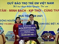 VND100 million provided to support children suffered from COVID-19 in Hai Duong