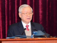 General Secretary Nguyen Phu Trong represents Hanoi in National Assembly election