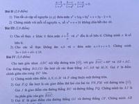 Đề thi vào lớp 10 chuyên Toán Hà Nội: Không dễ 'nhằn'