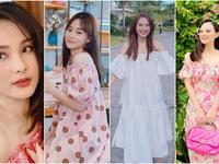 Dàn diễn viên diện đầm trễ vai: Phương Oanh, Bảo Thanh đẹp không tì vết, Hồng Diễm 'hack tuổi' thần sầu