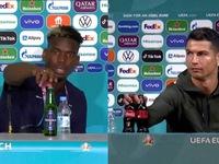 UEFA đã 'nóng mắt' trước trend từ chối đồ uống từ Cristiano Ronaldo