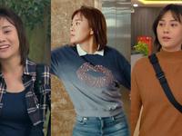 Loạt áo len, trang phục lỗi mốt dìm dáng của Nam (Phương Oanh) trong Hương vị tình thân
