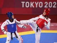 Kim Tuyền thắng đậm, tiến vào tứ kết Taekwondo Olympic Tokyo 2020