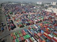 """Ách tắc hàng hóa tại cảng Cát Lái đã """"giảm nhiệt"""""""