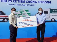 Ho Chi Minh City receives medical supplies, vehicles for COVID-19 fight