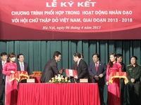 VTV - Hội Chữ Thập đỏ ký kết phối hợp công tác nhân đạo
