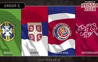 Bảng E World Cup 2018: Sự vượt trội của ĐT Brazil