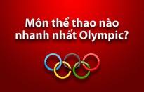 Môn thể thao nào  nhanh nhất Olympic?
