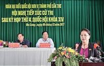 Chủ tịch Quốc hội tiếp xúc cử tri quận Cái Răng và quận Ninh Kiều của TP Cần Thơ