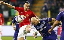 Anderlecht 1-1 Man United: Ibra im lặng, 'Quỷ đỏ' đánh rơi chiến thắng