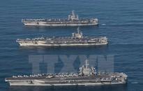 Các tàu sân bay Mỹ rời Bán đảo Triều Tiên sau khi tập trận