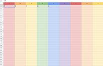 Mẹo biến trang tính Google Sheet thành bảng màu cầu vồng