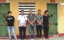 Bắt giữ các đối tượng đào hầm trộm cắp linh kiện điện tử ở Bắc Giang