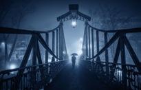 Thị trấn Opole, Ba Lan đẹp huyền ảo về đêm trong sương mù
