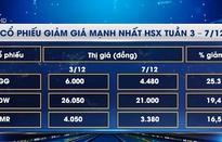 Các mã cổ phiếu biến động nhất HSX tuần qua