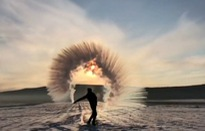 Nước nóng hóa băng tại Mạc Hà, Trung Quốc