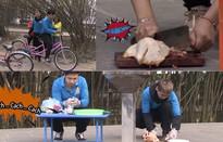 """Vlogger Huy Cung trổ tài """"băm gà"""" và lái xe với vận tốc 0,01km/h"""