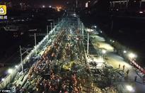 Choáng! 1.500 công nhân Trung Quốc làm đường sắt mới chỉ trong 9 tiếng