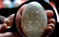 Biến vỏ trứng thành tác phẩm điêu khắc tinh xảo