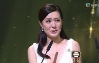 Đường Thi Vịnh nhận giải Nữ diễn viên xuất sắc, khóc như mưa