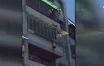 Giải cứu thành công bé trai 4 tuổi treo trên ban công ở Đài Loan, Trung Quốc