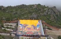 Độc đáo lễ hội sữa chua ở Tây Tạng