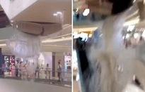 Sập trần trung tâm thương mại ở Trung Quốc vì mưa lớn