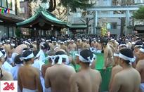 Người Nhật tắm nước đá thanh tẩy tâm hồn trong giá rét 5 độ C