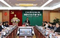 Thông cáo báo chí Kỳ họp 33 của Ủy ban Kiểm tra Trung ương