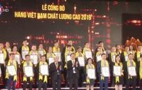 542 doanh nghiệp nhận danh hiệu Hàng Việt Nam chất lượng cao 2019