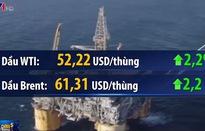 Giá dầu tăng hơn 2% sau vụ tấn công tàu chở dầu tại vùng Vịnh