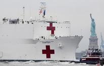 Tàu bệnh viện Hải quân Mỹ chính thức rời cảng New York