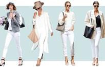 Muôn kiểu biến hóa thời trang chỉ với quần jeans trắng