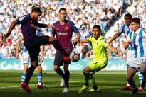 Barca ride luck to sink Sociedad, Real held in Bilbao