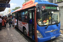 Ho Chi Minh City paints buses orange to raise sexual harassment awareness