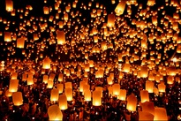 Lantern festival takes place in Thailand