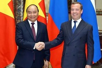 Vietnamese, Russian PMs hold talks in Moscow