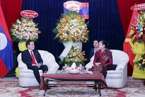 HCM City leaders pay New Year visit to Lao Consulate General