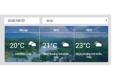 Các đại biểu có thể cập nhật thời tiết tại Đà Lạt trên website Liên hoan Truyền hình toàn quốc