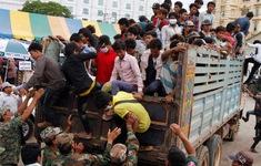 Lao động Campuchia từ Thái Lan đổ về nước tăng đột biến